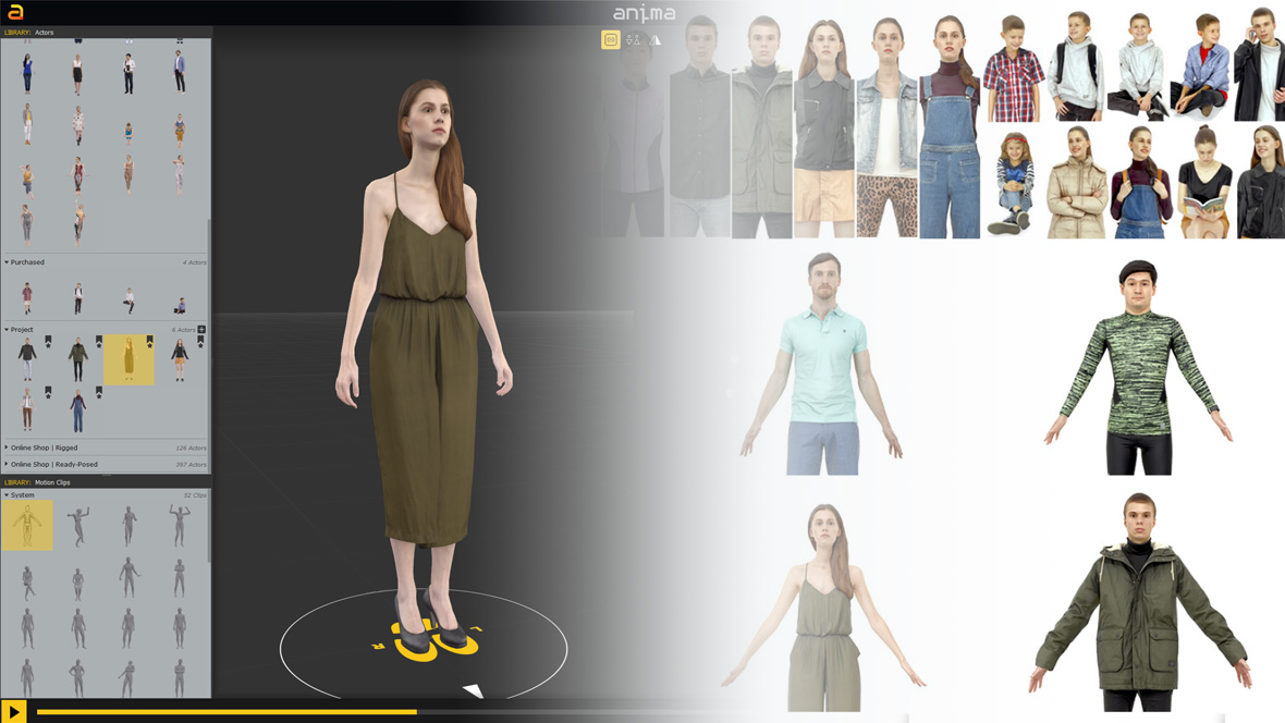 AXYZ design Store - 3d people for Archviz, ready posed, rigged and